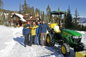 Production crew of John Deere photo shoot in summit county, with locations provided by Gary Hubbell, a Colorado real estate broker and location scout