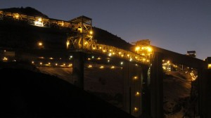 Coal mines at Somerset in use after dark, professional photography and location scouting provided by Gary Hubbell