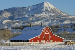 Classic livestock and hay barn location provided by Gary Hubbell, a Colorado Ranch Real Estate Broker and location scout