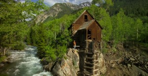 Crystal Mill location and professional photography provided by Gary Hubbell a Colorado location scout and animal wrangler