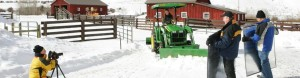 Gary Hubbell, a Colorado Location Scout, provided the stage to be set for John Deere's winter maintenance advertisements and productions
