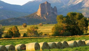 Needle Rock, a sought after Colorado Location and vista available for production use.