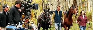 Gary Hubbell provided the location and animal wrangling of the livestock used for the Colorado Tourism Board Photoshoot, supplying his own horses and scenic areas.