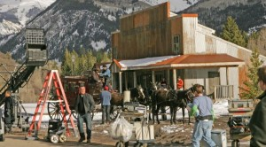 The Prestige Film production in Marble Colorado, provided by Gary Hubbell, a Colorado location scout and animal wrangler