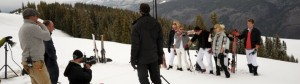 Izod photo shoot in Aspen Colorado with location scouting done by Gary Hubbell